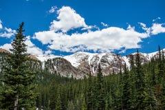 派克峰顶科罗拉多风景 免版税库存图片