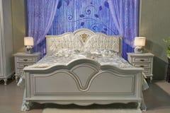 巴洛克式的卧室 库存图片