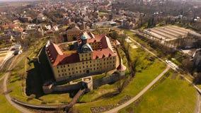 巴洛克式的城堡莫里茨堡在蔡茨 免版税图库摄影