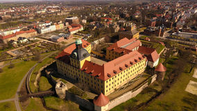 巴洛克式的城堡莫里茨堡在蔡茨 库存照片