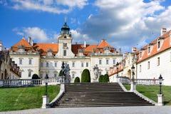 巴洛克式的城堡Valtice (联合国科教文组织),捷克共和国 库存照片