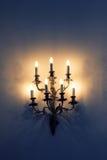 巴洛克式的壁灯 库存图片