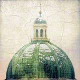 巴洛克式的大教堂 圆屋顶的细节 布雷西亚-意大利 叫新的大教堂 17世纪 免版税图库摄影