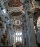 巴洛克式的天花板壁画 免版税库存图片