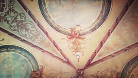 巴洛克式的天花板 库存图片