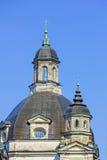 巴洛克式的教会圆顶在修道院里 库存图片