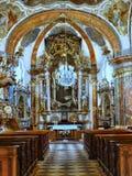 巴洛克式的教会布拉格,捷克 免版税库存照片