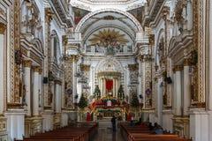 巴洛克式的教会的内部 免版税库存照片