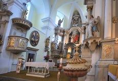 巴洛克式的教会 免版税图库摄影