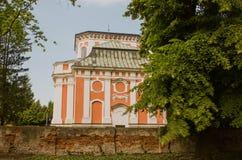 巴洛克式的教会- Schlosskirche Buch - Alt的Buch柏林 库存照片