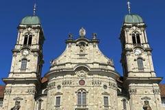 巴洛克式的本尼迪克特的修道院教会,艾因西德伦 免版税库存照片