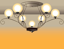 巴洛克式的枝形吊灯 库存照片