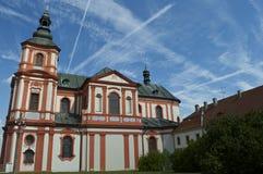 巴洛克式的样式的教会 免版税库存图片
