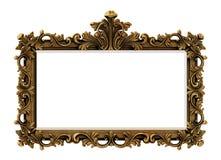 巴洛克式的框架金子 图库摄影