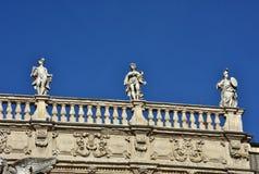 巴洛克式的楼梯栏杆在维罗纳 图库摄影