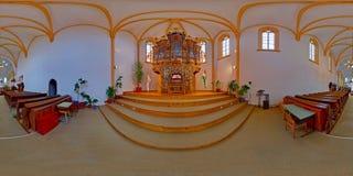 巴洛克式的管风琴在被改革的堡垒教会, Târgu MureÈ™,罗马尼亚里 免版税库存照片