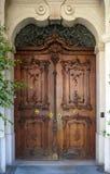 巴洛克式的门在帕绍 免版税库存照片