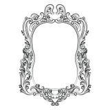 巴洛克式的洛可可式的镜子框架装饰 库存图片