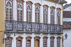 巴洛克式的建筑学老豪宅 免版税库存照片