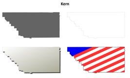 克恩县,加利福尼亚概述地图集合 库存图片