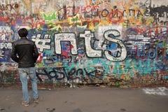 维克托Tsoi墙壁 库存图片