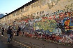 维克托Tsoi墙壁 免版税库存照片