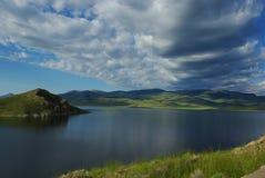 克拉克峡谷水库,蒙大拿 免版税库存图片