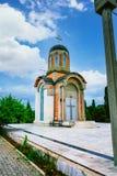 克拉古耶瓦茨的新的受难者教会,纪念博物馆和公园10月21日位于在克拉古耶瓦茨,塞尔维亚 免版税图库摄影