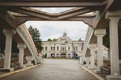 克拉古耶瓦茨,塞尔维亚- 2016年7月18日:Stara Livnica博物馆,在老工厂附近位于克拉古耶瓦茨,塞尔维亚 美妙的大厦 库存图片