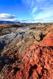 克拉夫拉火山熔岩荒野 免版税库存照片