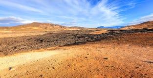克拉夫拉火山熔岩荒野 库存照片