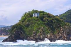 克拉拉・ donostia海岛圣诞老人 免版税库存图片