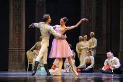 克拉拉和王子舞蹈这芭蕾胡桃钳 免版税图库摄影