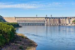 克拉斯诺亚尔斯克水坝 人河西伯利亚日落叶尼塞 俄国 库存图片