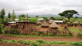 克拉的孔索埃塞俄比亚传统孔索部落村庄 库存照片
