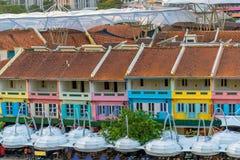 克拉码头旧港口在新加坡 库存照片