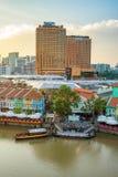 克拉码头旧港口在新加坡 图库摄影