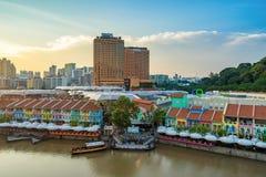 克拉码头旧港口在新加坡 免版税库存图片