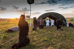 克拉科夫、波兰- 2016年7月31日,世界青年日和天主教徒 图库摄影