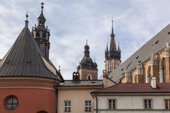 克拉科夫中世纪教会 免版税图库摄影