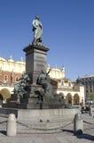 克拉科夫主要miikiewicz纪念碑正方形 免版税图库摄影