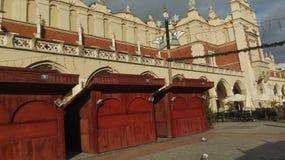 克拉科夫大广场 库存照片