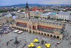 克拉科夫大广场 免版税库存图片