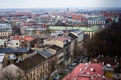 克拉科夫波兰鸟瞰图  免版税库存图片