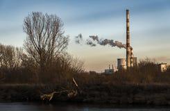克拉科夫热和能源厂 库存图片
