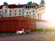 克拉科夫的城堡 免版税库存照片