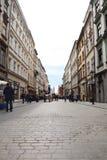 克拉科夫老城镇 老大厦 古老街道 古老正方形 免版税库存图片