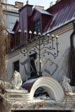 克拉科夫老波兰犹太教堂 免版税库存图片
