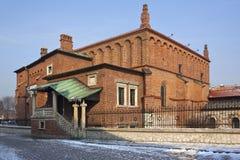 克拉科夫老波兰犹太教堂 库存照片