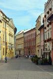 克拉科夫老镇的大广场  免版税库存图片